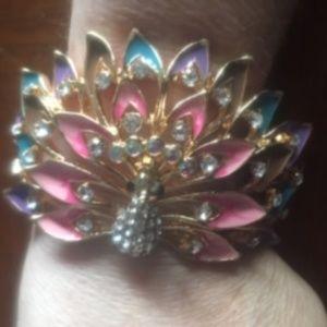 Beautiful Peacock Bracelet  (Costume Jewelry)  -17